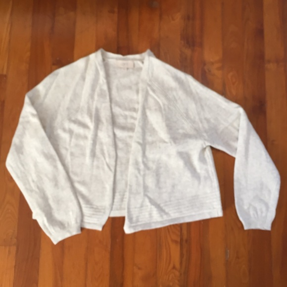 100% Cotton Loft Cropped Open Front Cardigan